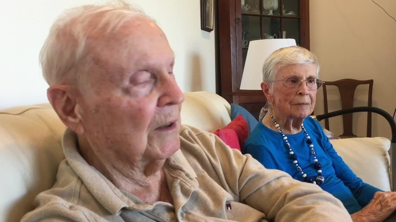 Charles and Emily Pearce of Viera love each other more now than the day they got married -- 75 years ago!