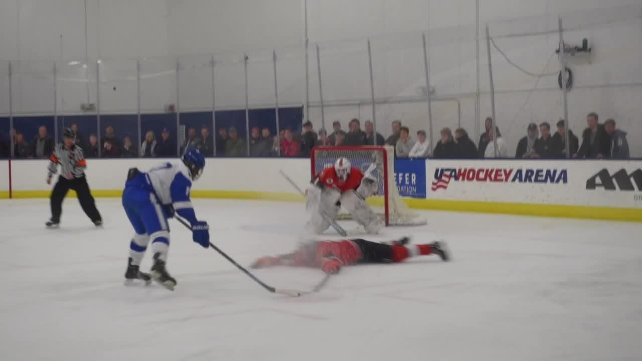 It was a great game between rivals. Tied 4-4, CC earned one more goal with under a minute left to play to win the game.
