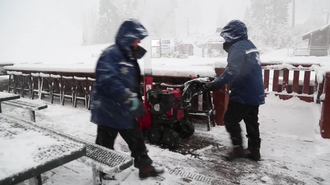 Ski resorts around Reno got an optimistic start to the holiday weekend. These scenes are from the Northstar California resort. New snow on Tahoe slopes totaled 5 to 11 inches by noon Thursday, Nov. 22, 2018.