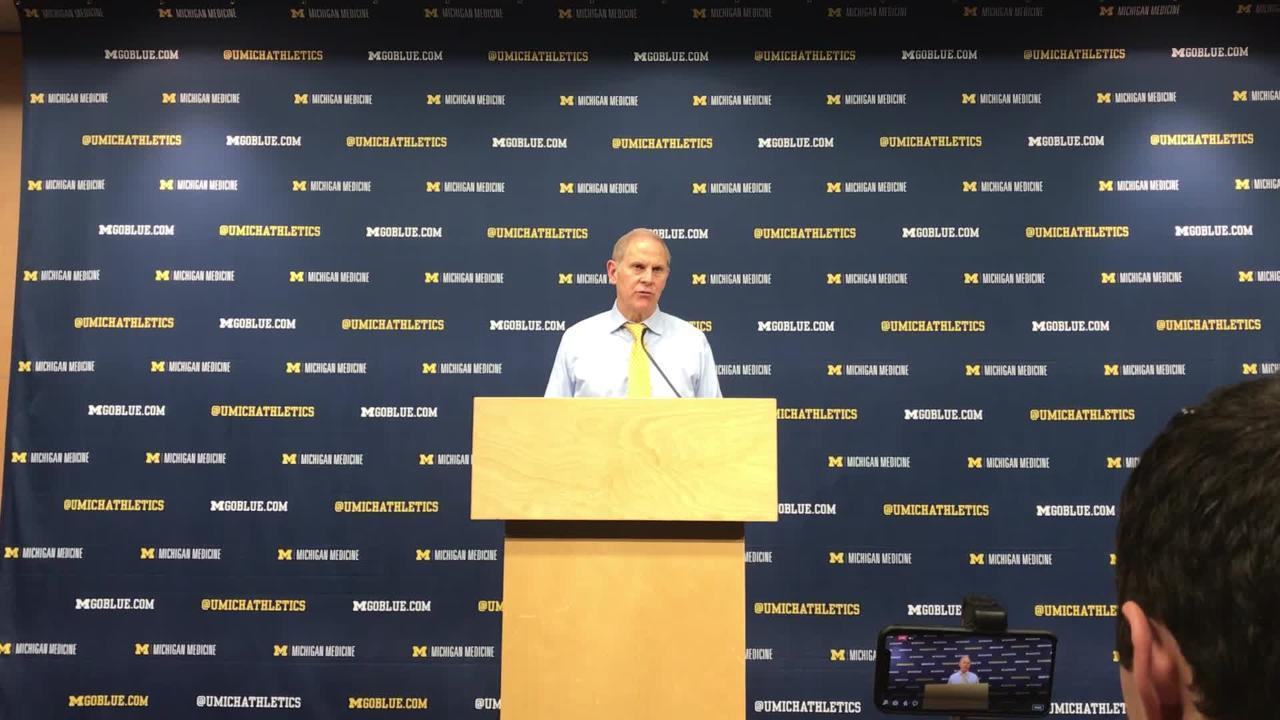 Michigan coach John Beilein speaks to the media after the 83-55 win over Chattanooga on Friday, Nov. 23, 2018, at Crisler Center.