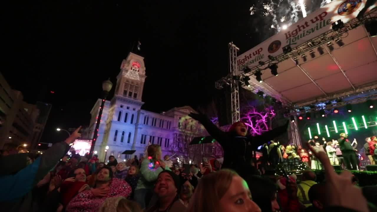Light Up Louisville 2018 kicked off the Christmas season Friday night