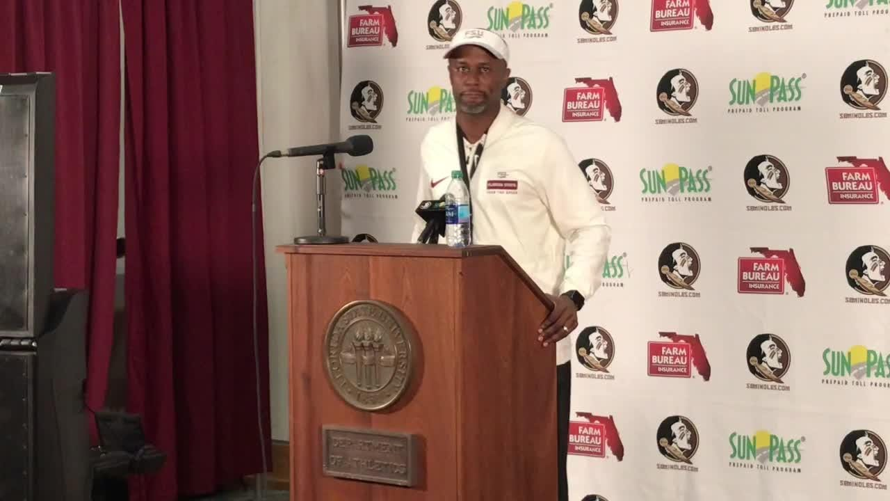 FSU coach Willie Taggart speaks to the media after FSU's 41-14 loss to Florida.