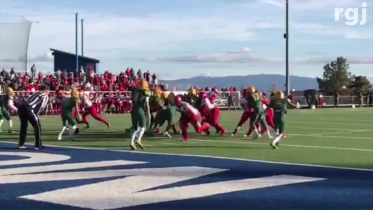 Bishop Manogue beat Arbor View, 42-34, in a state semifinal playoff football game on Saturday at McQueen. Bishop Manogue will face Gorman on Dec. 1.