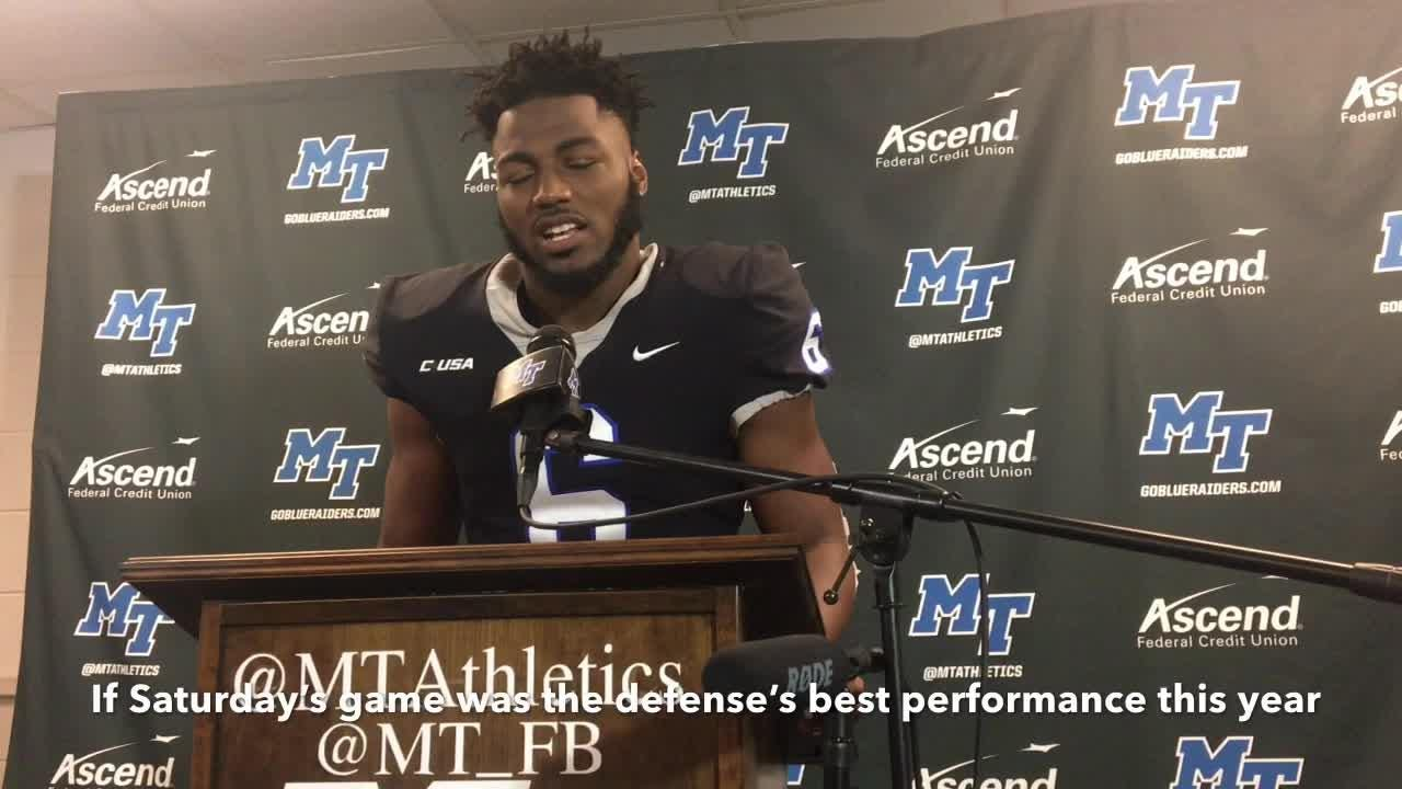 Ty Lee, Khalil Brooks and Brent Stockstill give their thoughts following MTSU's 27-3 win over UAB on Nov. 24, 2018.