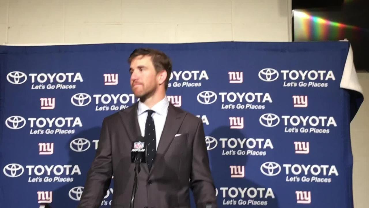 Watch Eli Manning Reacts To Sunday S 25 22 Loss To The Eagles