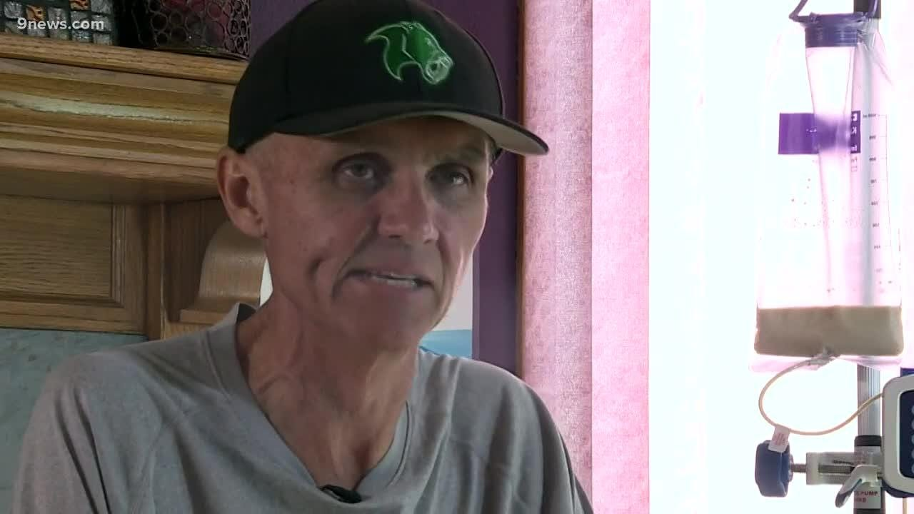 This assistant football coach at Fossil Ridge High School in Fort Collins who is battling cancer is an inspiration to his players on and off the field.