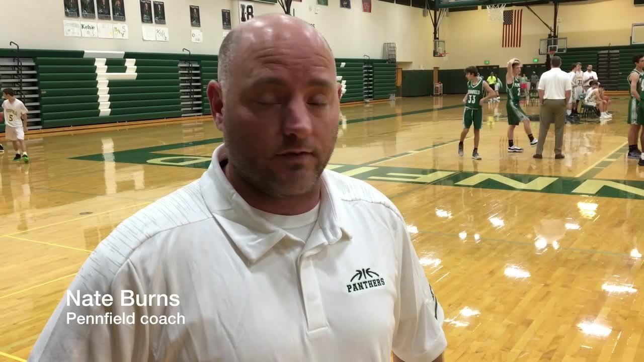 Pennfield coach Nate Burns talks about the 2018-19 boys basketball season