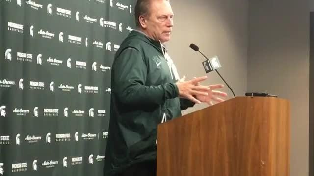 MSU coach Tom Izzo speaks to the media about his team's role players and more Nov. 26, 2018.