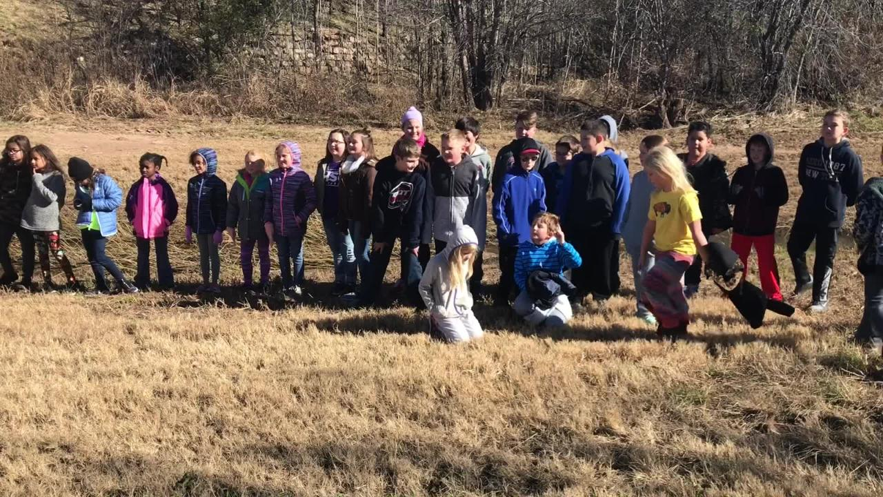 In a post-Thanksgiving trek, students in the gifted and talented program of Abilene ISD spent Monday morning communing with nature along Cedar Creek