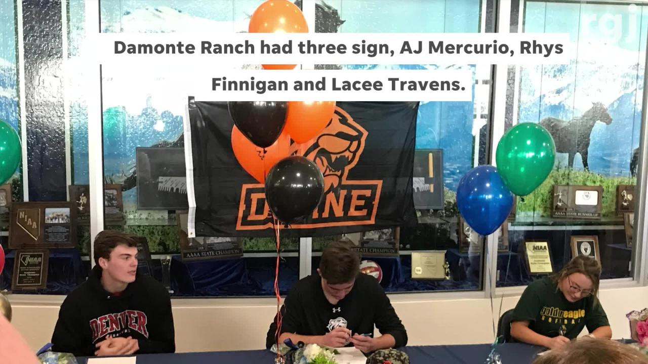 Several Northern Nevada student signed this month to continue athletics in college