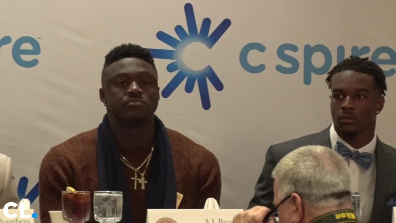 Mississippi State's Jeffery Simmons is the winner of the 2018 C-Spire Conerly Trophy. The athlete thanked his coaching staff, the fans, and his team.