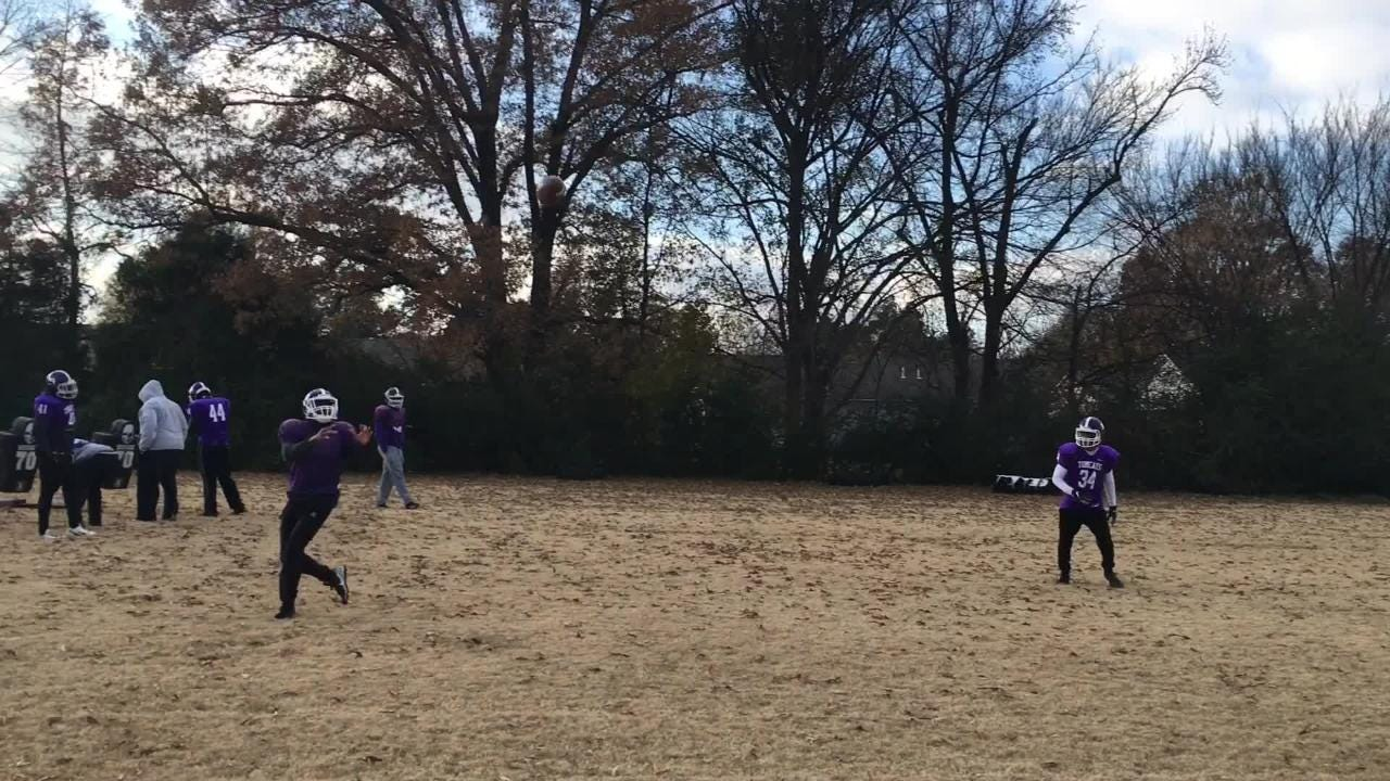 Haywood football practices on Tuesday, Nov. 27, 2018, before playing in the Class 4A state title game on Thursday.