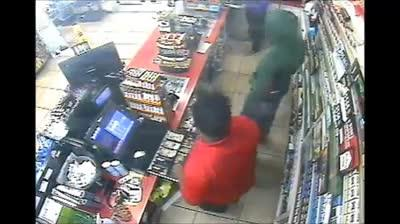 Police are  looking for the three men in this video who are accused of robbing a Circle K in St. Lucie County.