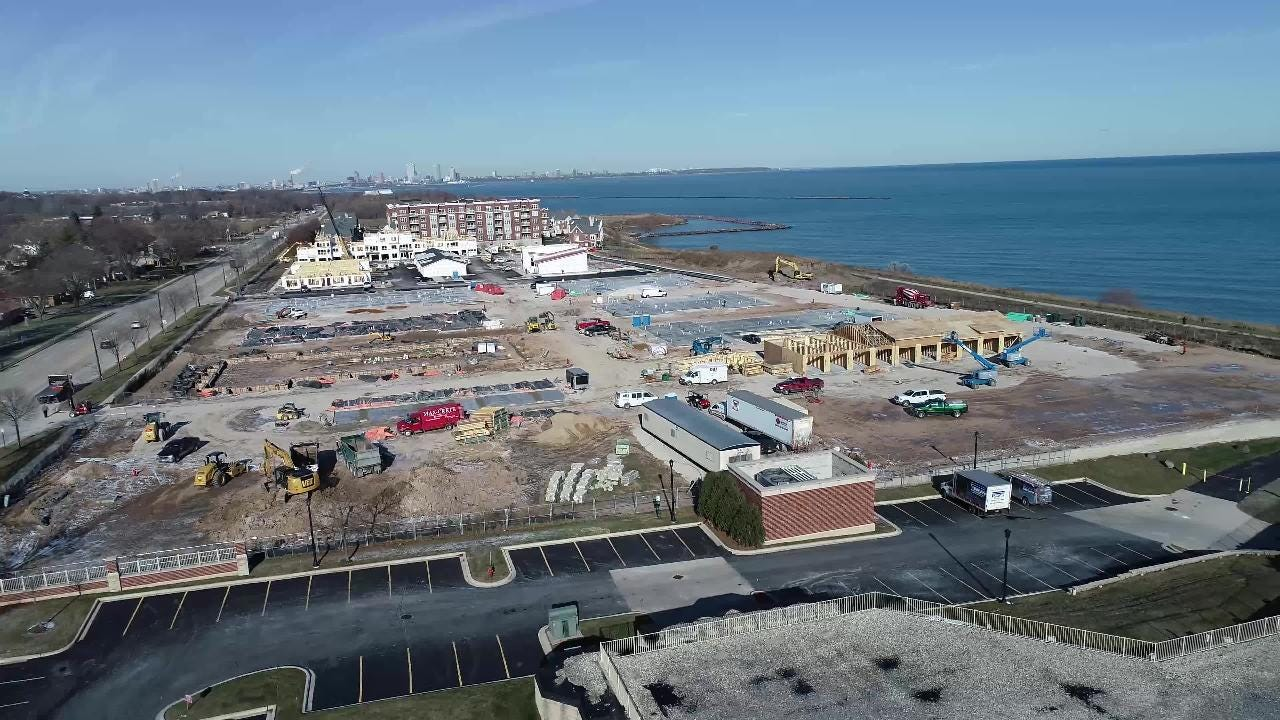 Get a bird's-eye view of the development that's finally taking place along the lakefront in St. Francis.