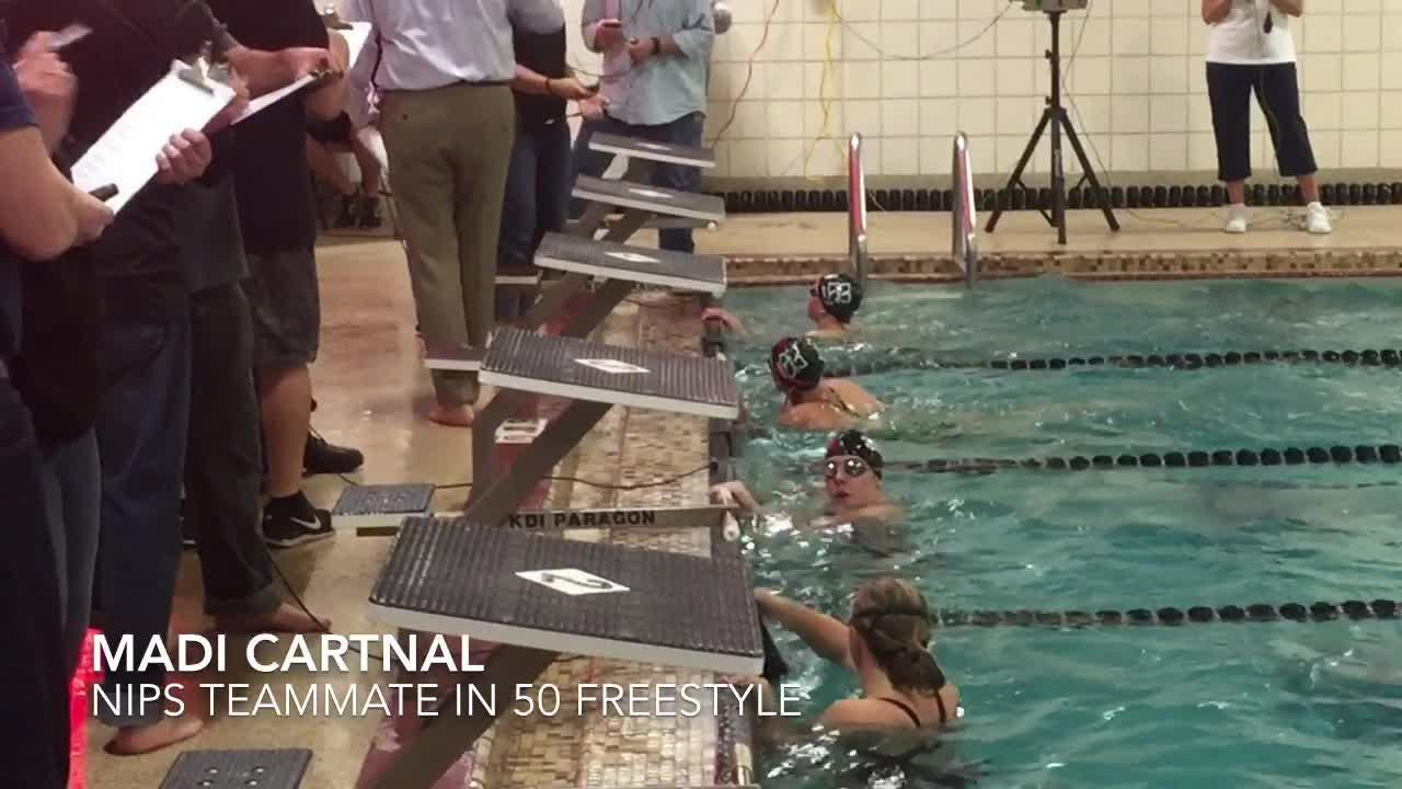 Swimmers from Newark, Northridge,, Heath, Newark Catholic and Licking Valley competed at the Licking County Family YMCA.