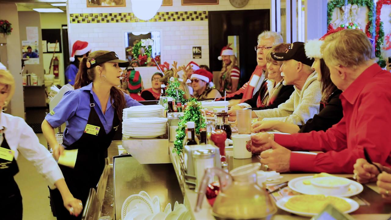 Kid Rock plays an ill-behaved cook in the music video for Waffle House Christmas.