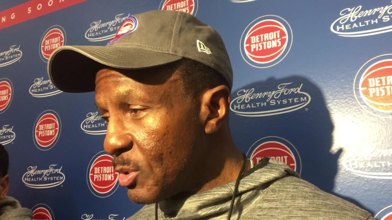 Detroit Pistons coach Dwane Casey speaks to the media after practice on Thursday, Nov. 29, 2018, in Auburn Hills.