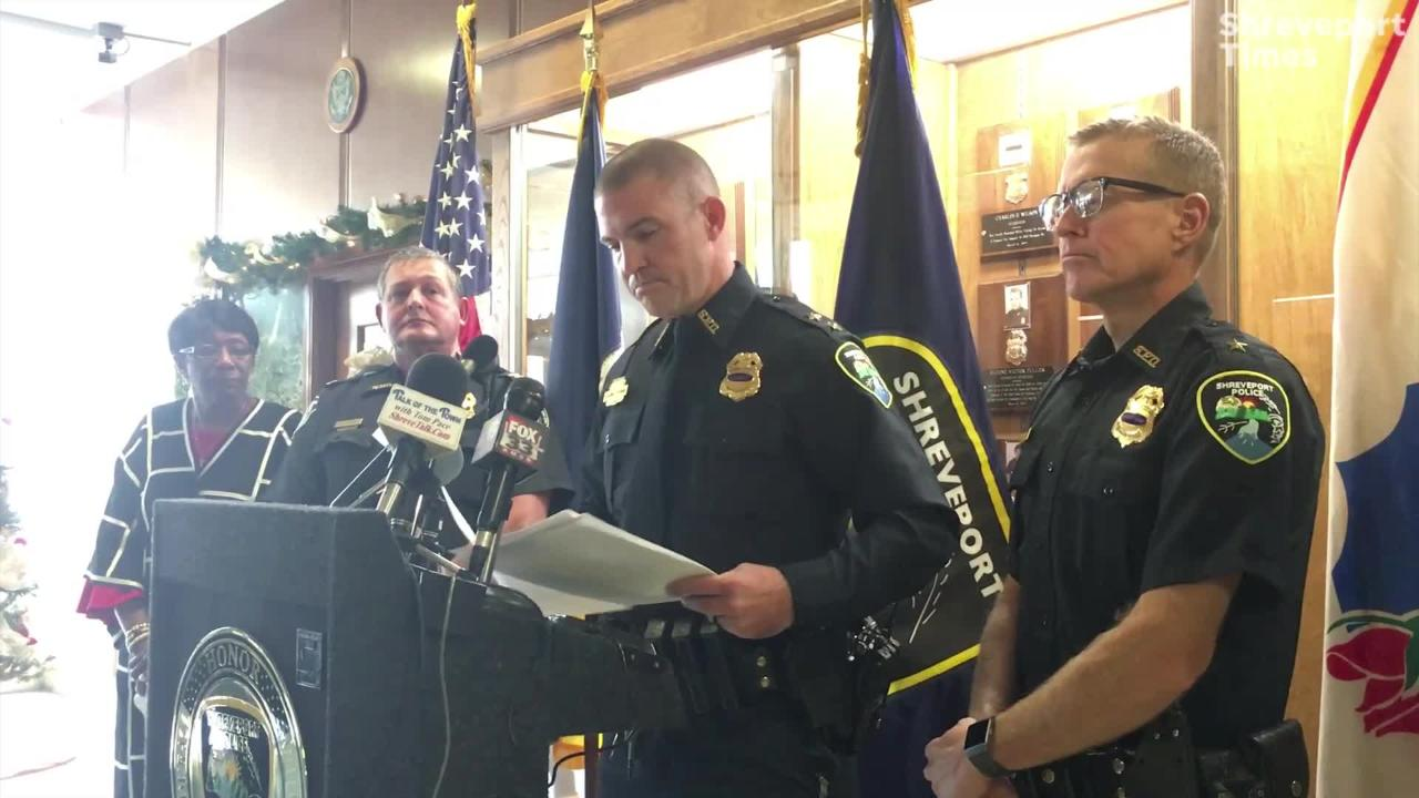 Substitute Chief Benjamin Raymond answered questions Thursday at a press conference at SPD.