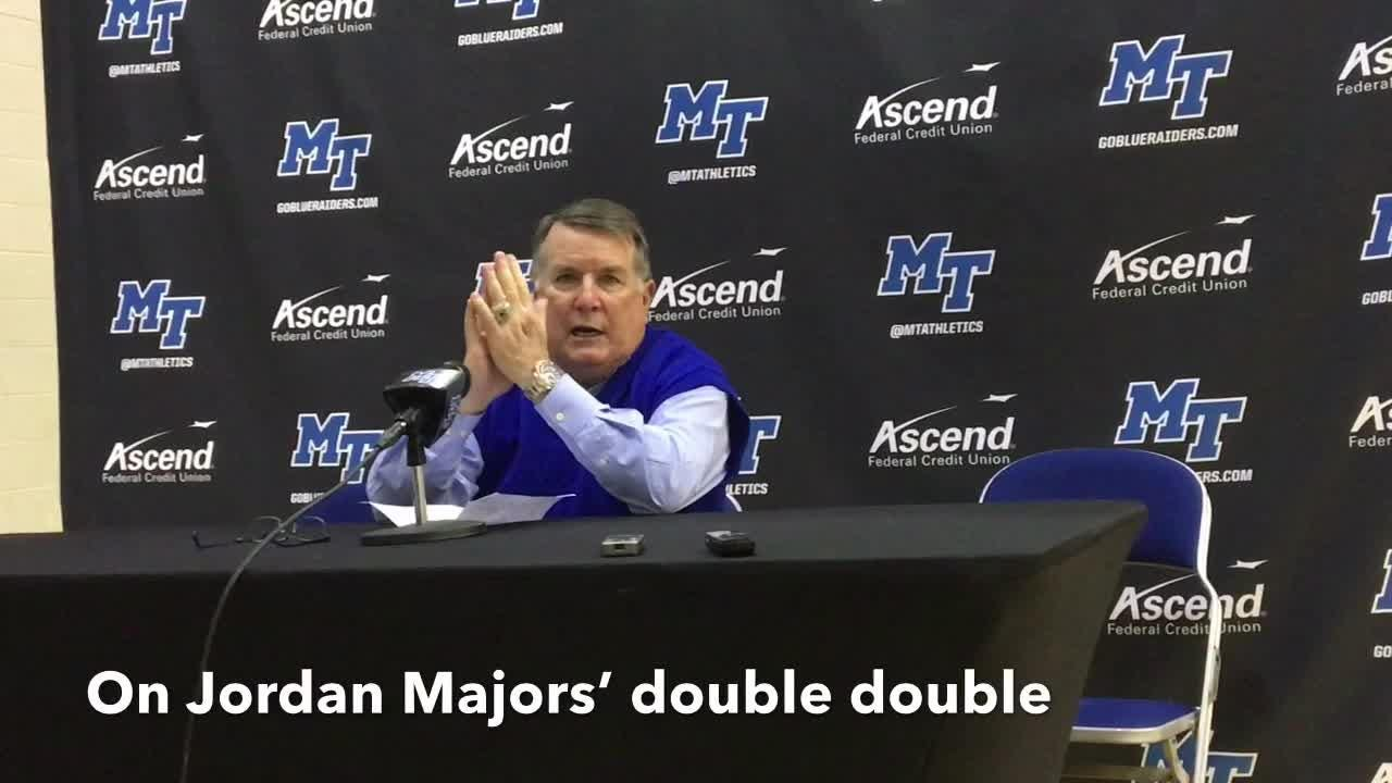 MTSU coach Rick Insell gives his thoughts after the Lady Raiders' 69-54 win over Georgia State on Nov. 29, 2018