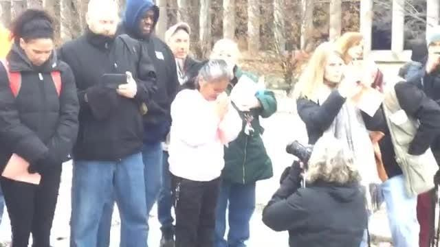 UAW workers hold vigil at GM's Lordstown, Ohio plant