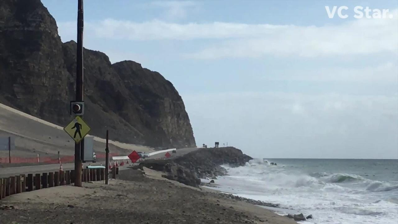 Plans call for adding huge boulders to help shore up the slope under PCH.