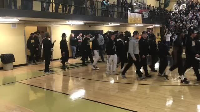 Sights and sounds from Peabody football's return to campus after winning the Class 2A state championship on Thursday, Nov. 29, 2018.