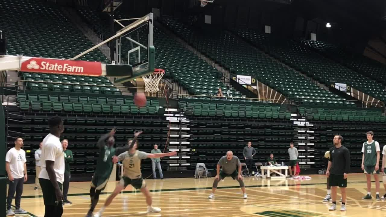 After being out-rebounded 34-17 in a loss to Southern Illinois, the CSU basketball team was working on rebounding Thursday in advance of CU game.