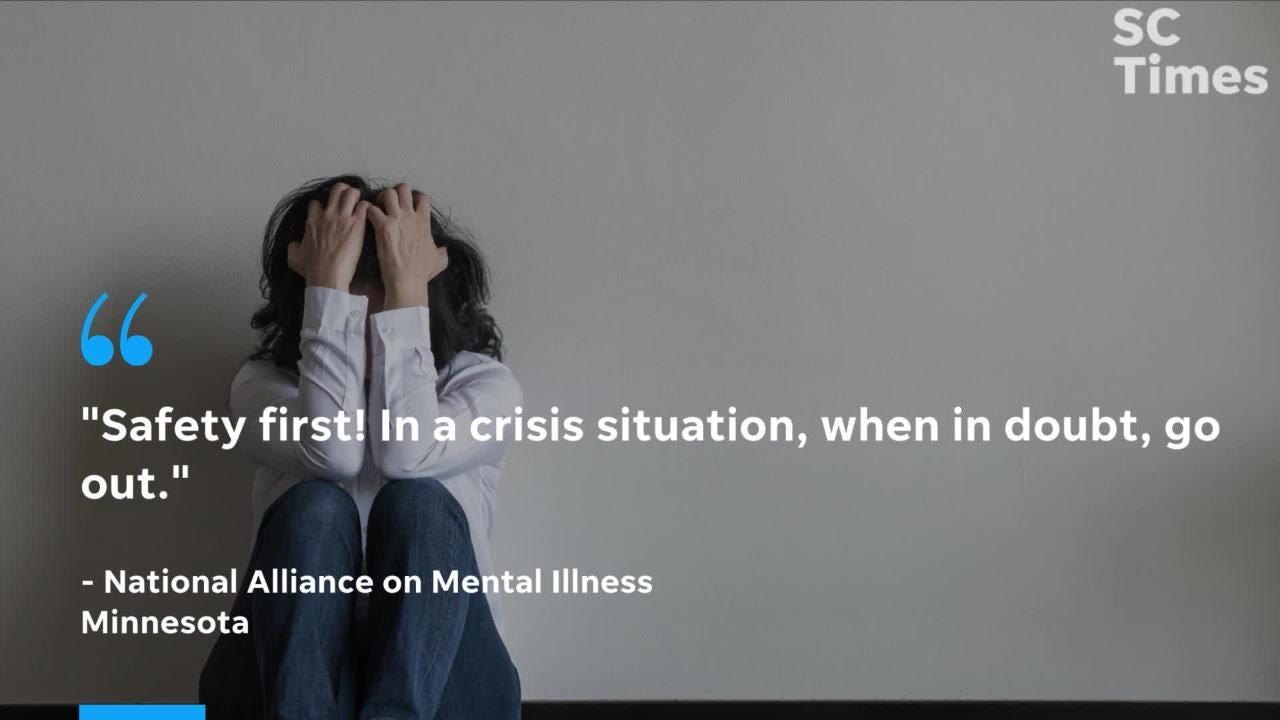Residents across Minnesota can call for aid from mental health professionals during a breakdown or crisis. Experts recommend leaving any dangerous situations.
