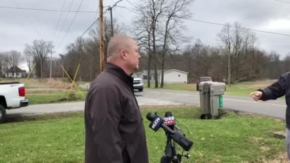 Clark County Sheriff Jamey Noel describes what happened after a corporate-sized plane crashed Friday morning outside Memphis, Indiana.