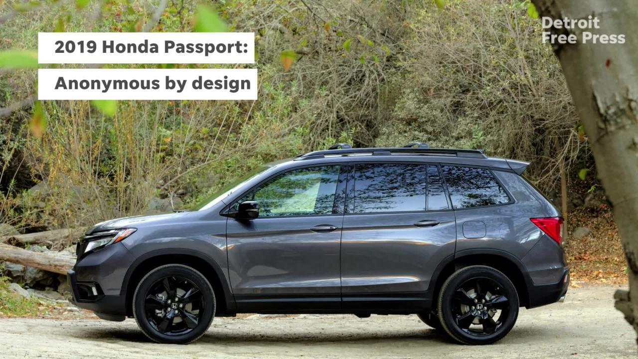 Auto Shows The 2019 Honda Passport Is The Two Row Mid Size Suv