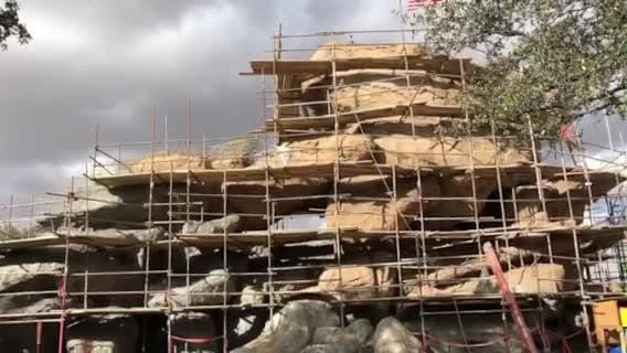 A peek at Zoo's new Chihuahuan Desert Exhibit under construction.