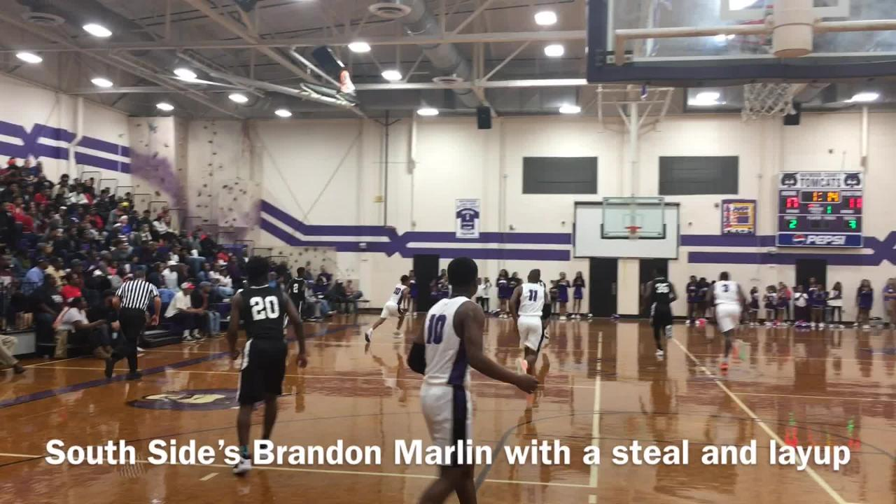 Action from South Side's 59-54 win over Haywood in boys basketball on Nov. 30, 2018