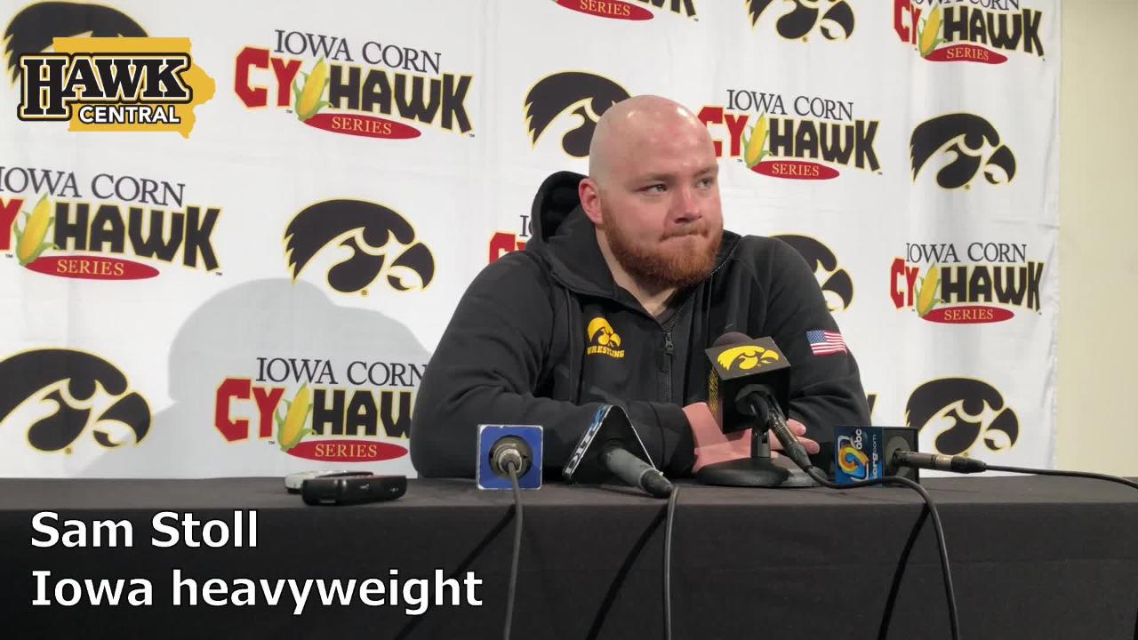 Iowa heavyweight Sam Stoll explains what went into the decision to wrestle against Iowa State on Saturday.