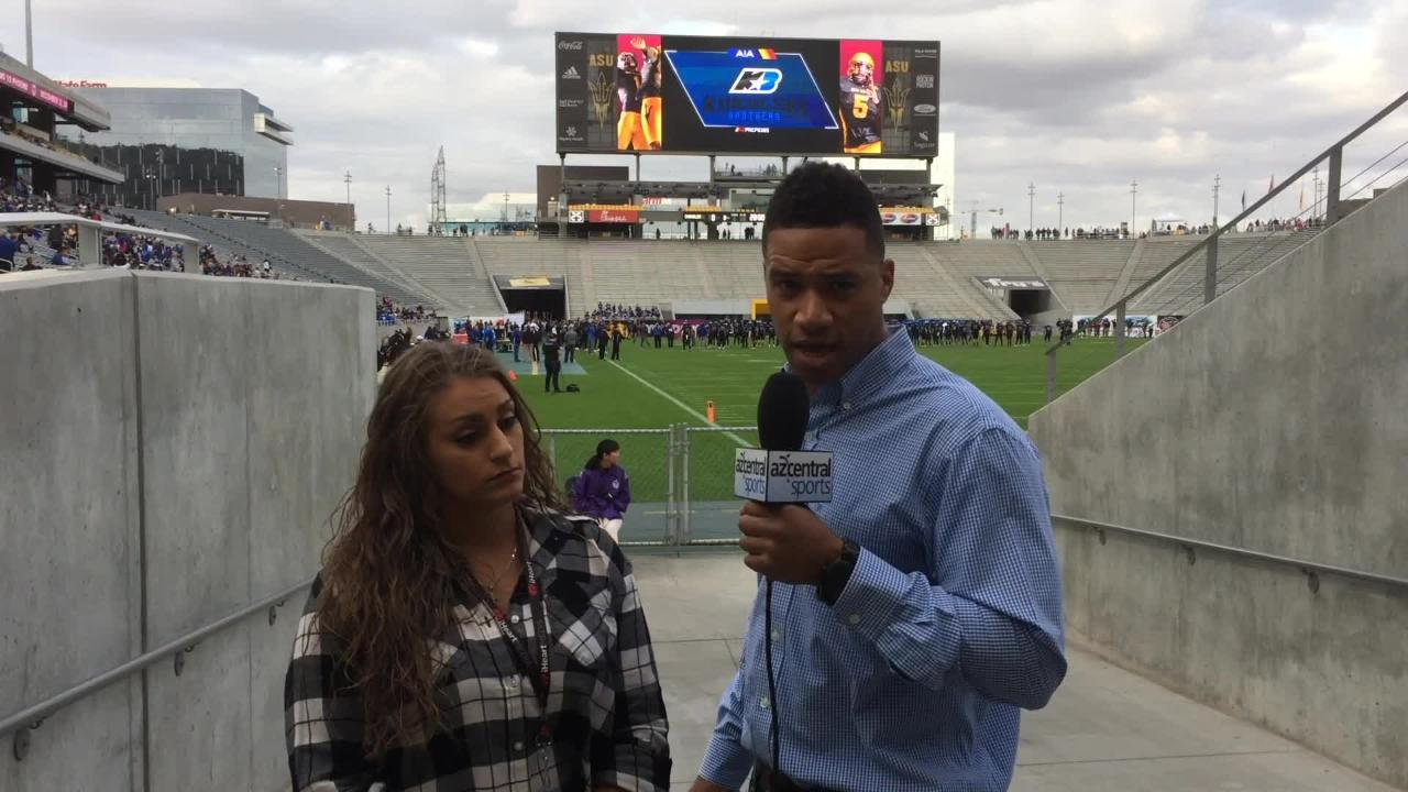 Dana Scott and Brittany Bowyer talk about Centennial's 60-7 victory over Notre Dame Prep to win the 5A state championship.