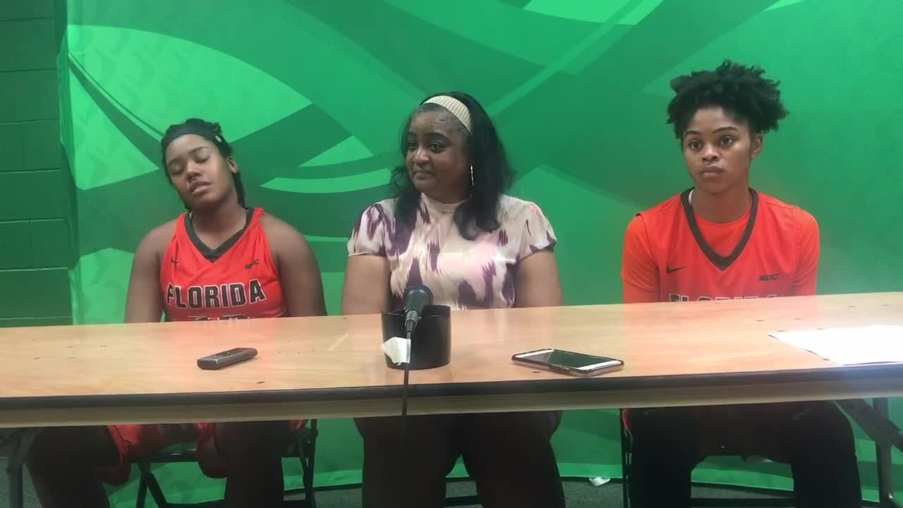 WATCH: Rattlers women's head coach LeDawn Gibson, Candice Williams and Jasmine Ballew recap the 70-64 win over Edward Waters College.