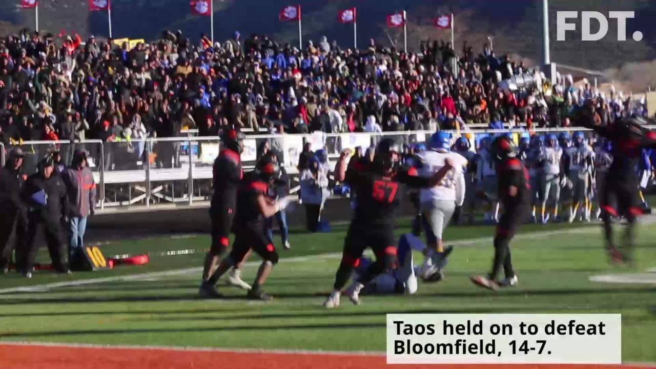 Multiple bad breaks cost Bloomfield Saturday at Anaya Field in Taos