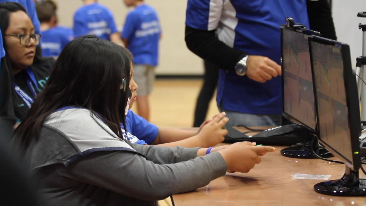 Hundreds of children crowded into a gymnasium in Chandler Saturday to compete in an eSports video game tournament.