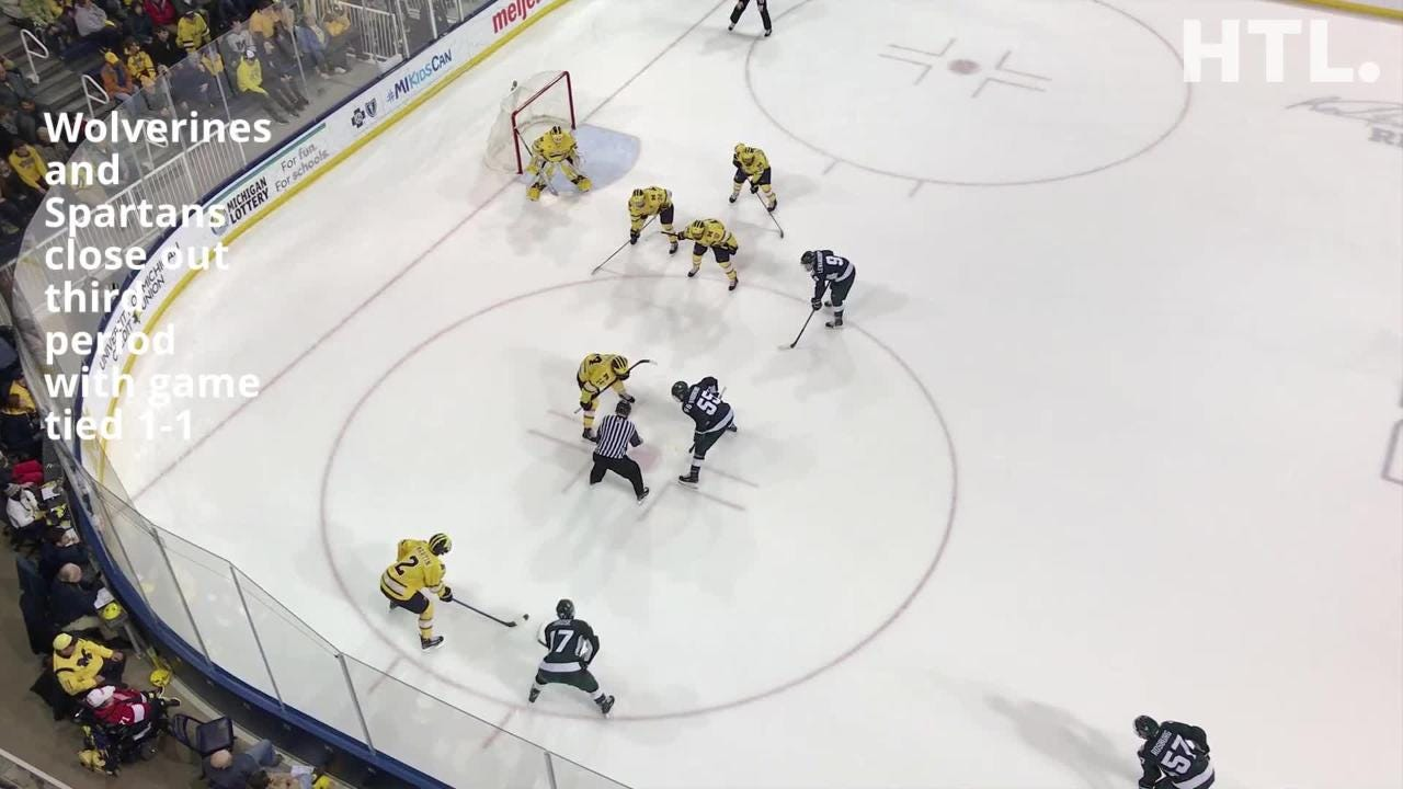 Host Michigan unable to solve ex-NTDP goalie DeRidder, with Spartans prevailing in shootout