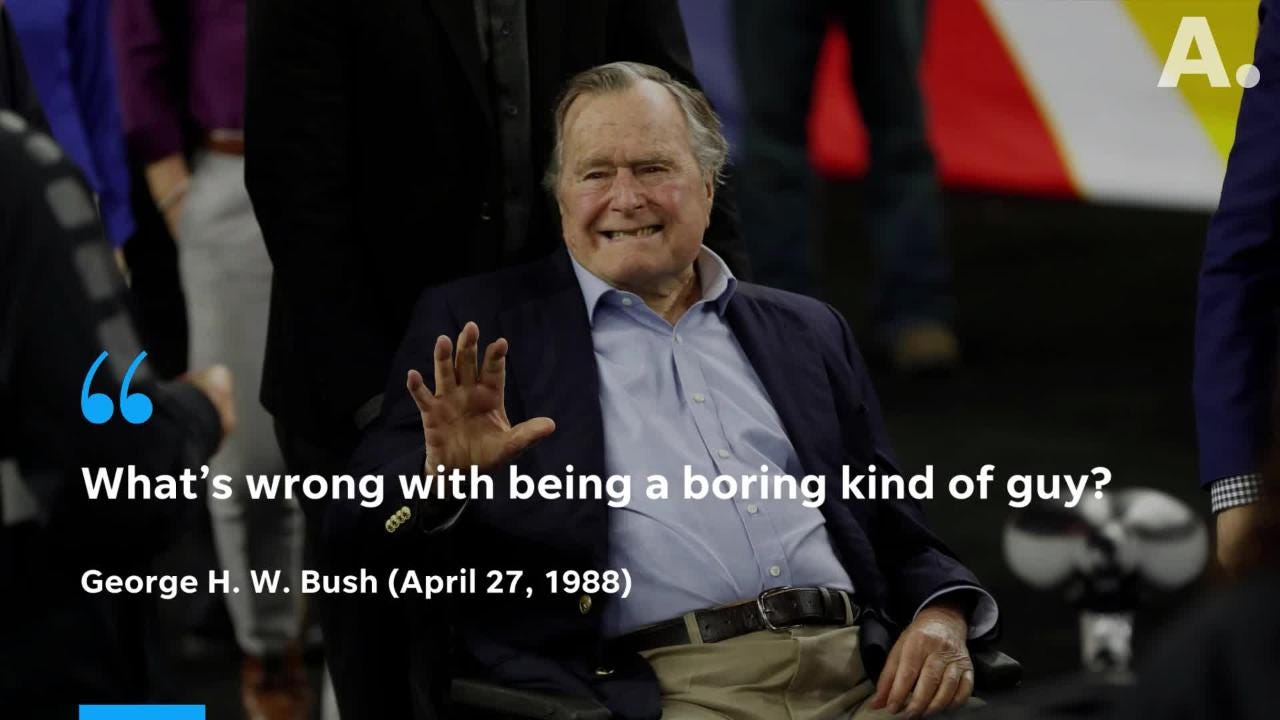 These are the last words spoken by former president George H. W. Bush.
