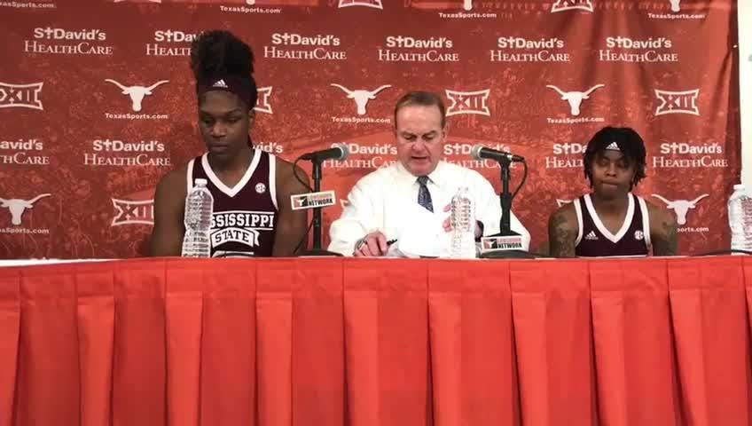 Mississippi State head coach Vic Schaefer on his team's win over No. 10 Texas.