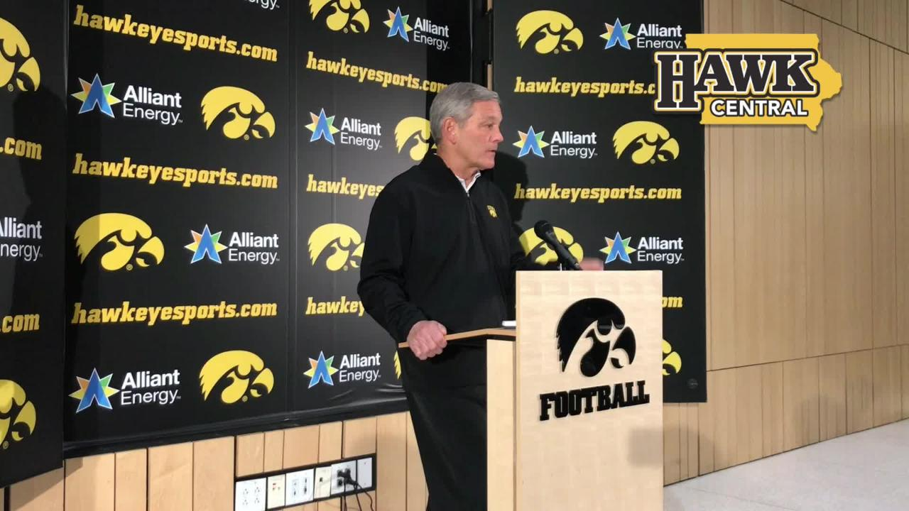 Iowa coach Kirk Ferentz says he was disappointed to see Noah Fant skip the bowl game, but he understands the decision. Listen in: