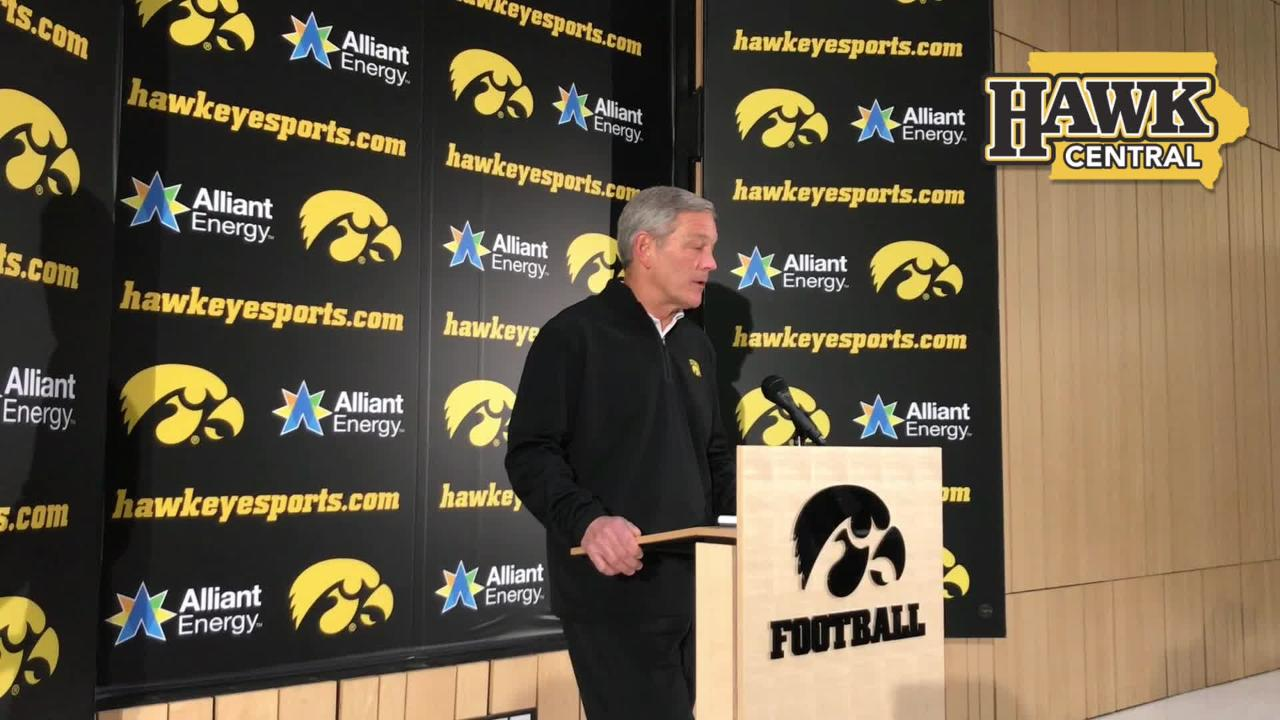 "Iowa coach Kirk Ferentz says he's expecting to see a ""salty"" Mississippi State defense in the Outback Bowl"