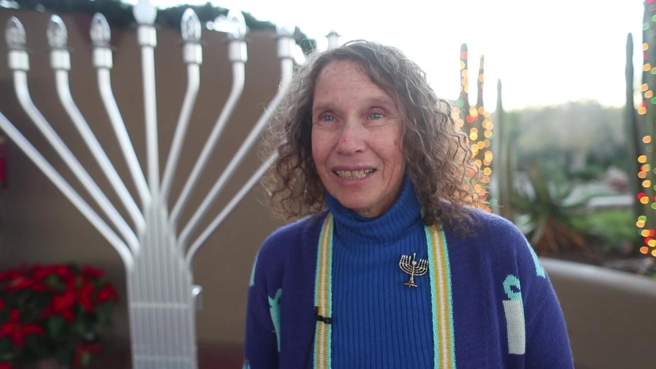 Ora Kurland explains the eight day holiday celebration of Hanukkah in Carefree, Ariz.