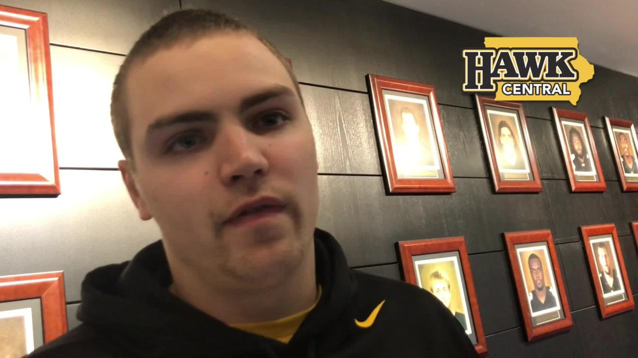 Iowa quarterback Nate Stanley says he'll likely be back for his senior season, and offers his thoughts on Noah Fant's early departure.