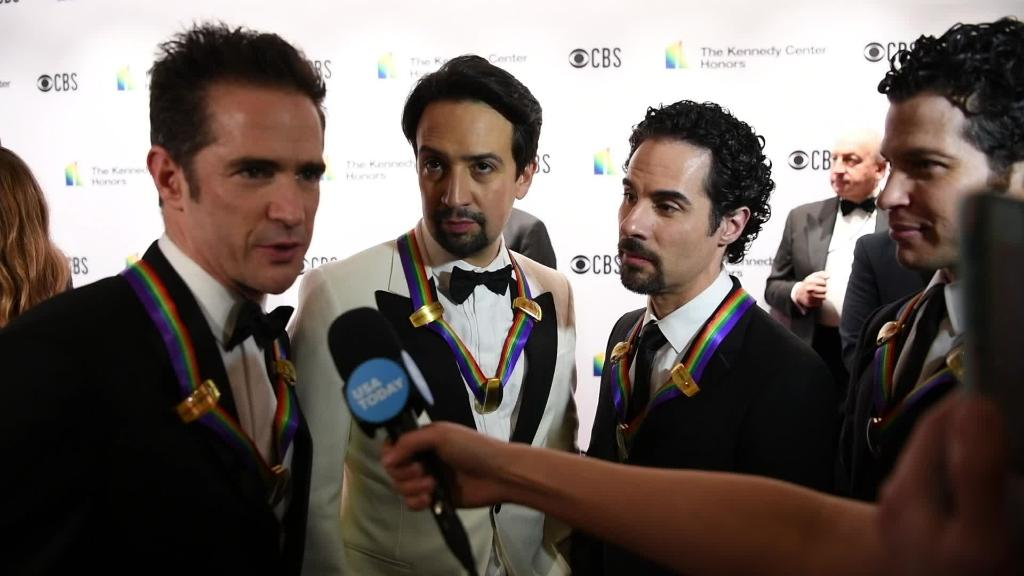 Stars at the Kennedy Center Honors speak on the red carpet and give electric performances