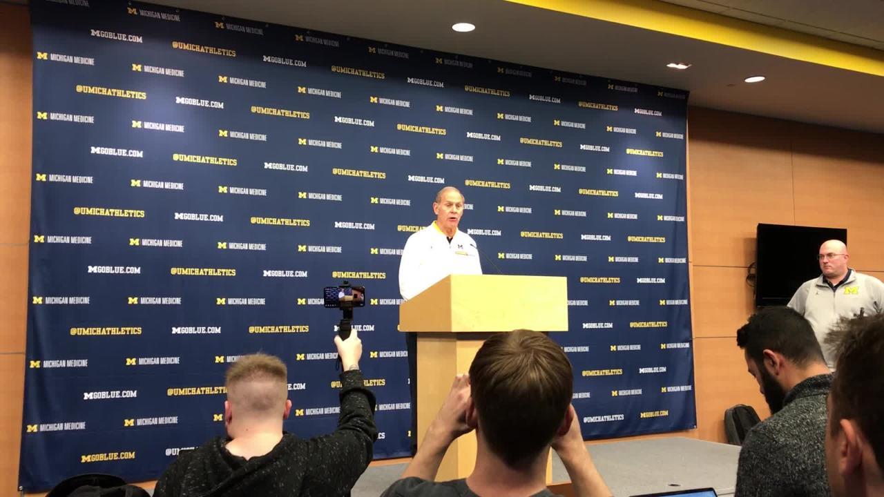 Michigan basketball coach John Beilein speaks to the media on Monday, Dec. 3, 2018, in Ann Arbor.