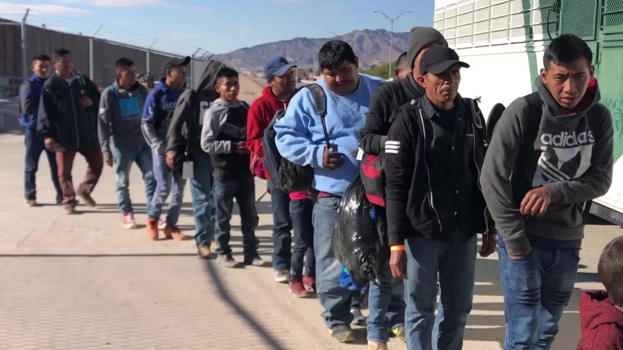 Over 300 Immigrants Surrendered to El Paso Border Patrol Monday morning.