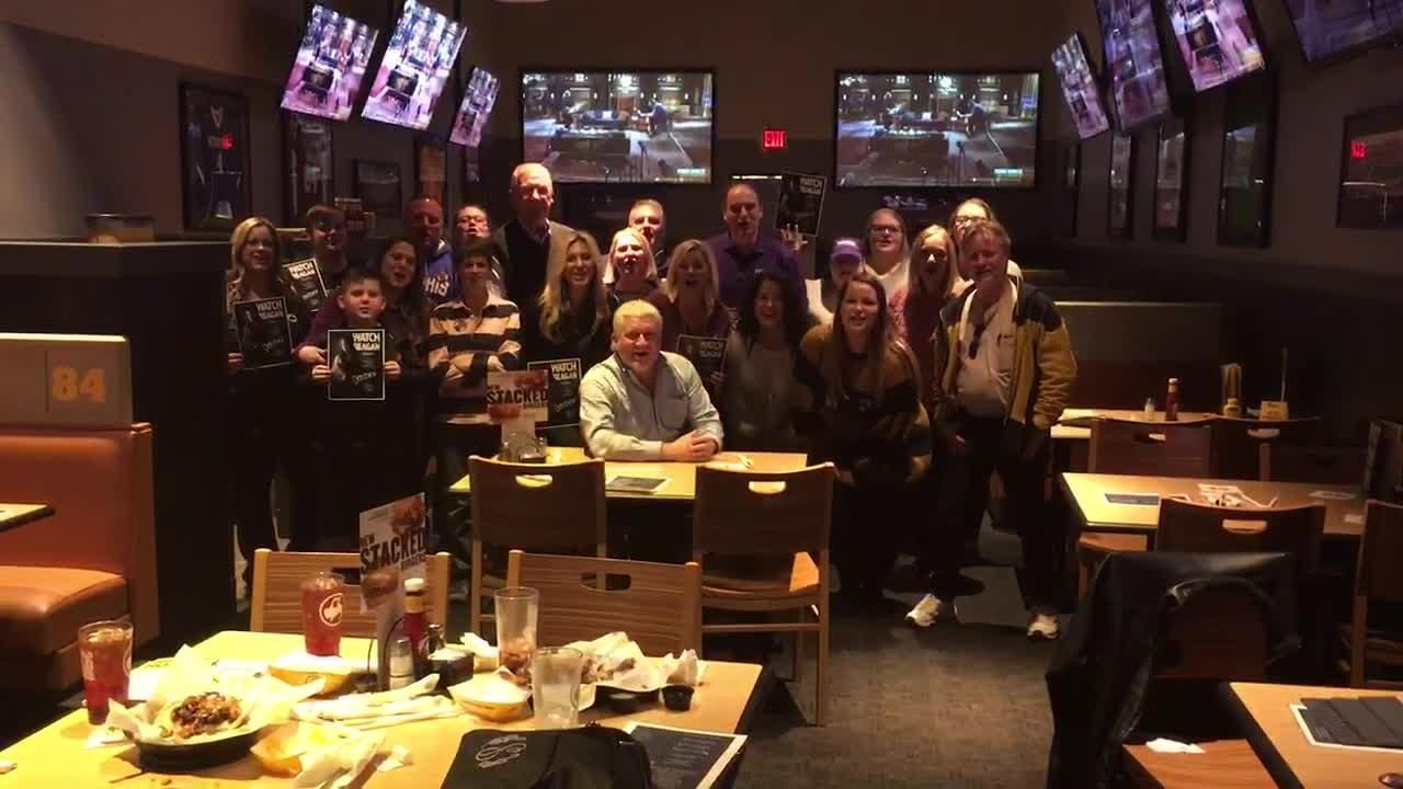 Fans at Buffalo Wild Wings' Wolfchase location showed they support for Reagan Strange. Reagan had five official watch parties Monday
