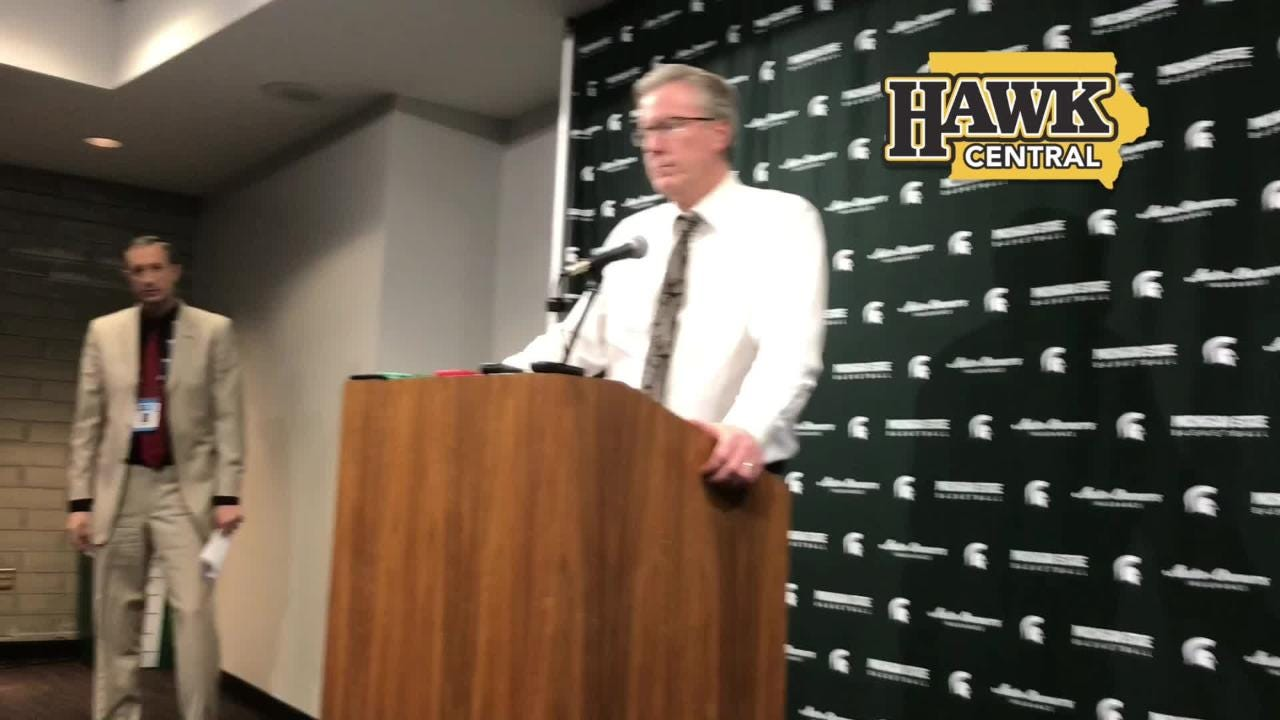 Iowa coach Fran McCaffery explains poor interior defense and an  early second-half run that sealed his team's fate vs. Michigan State