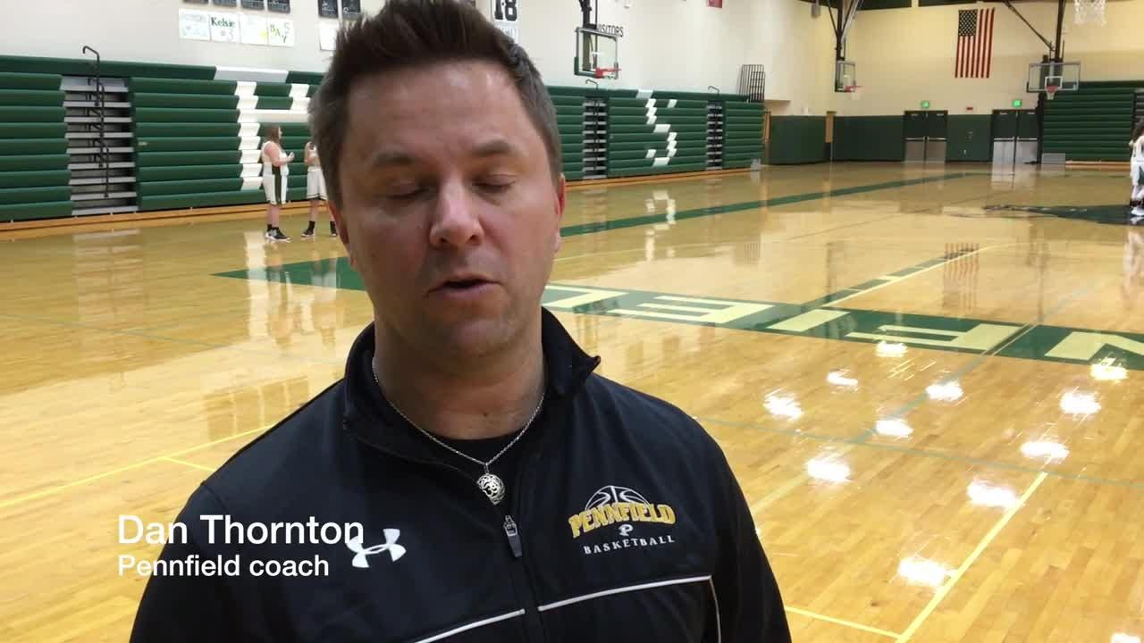 Pennfield coach Dan Thornton talks about the Panther girls basketball team